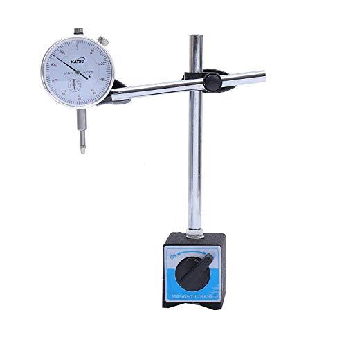 KATSU Dial Test Indicator DTI-Messgerät 0-10 mm mit Magnetfuß im StorageCase