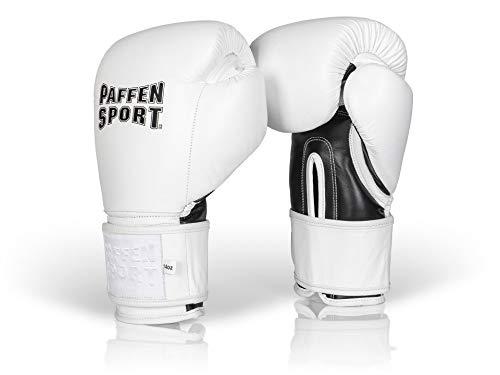 PRO Klett Boxhandschuhe für das Sparring Gewicht: 12uz Farbe: weiß/schwarz