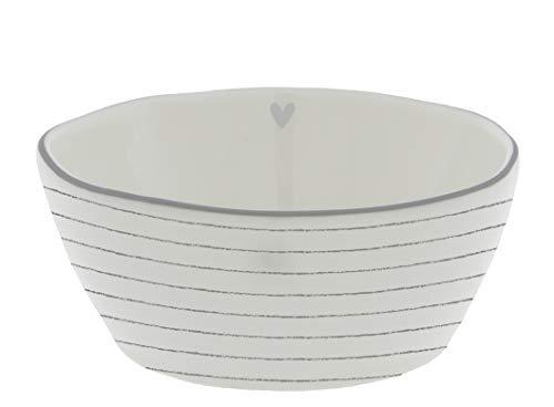 Bowl Sauce Stripes Little Heart Ceramic White Stripes Grey BC Dip Bowl Snack Ceramic Tableware Set Table Kitchen