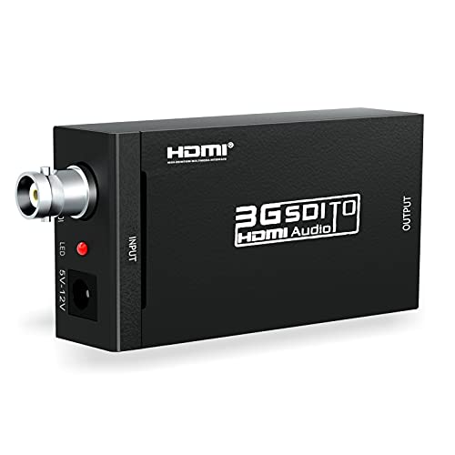 SDI to HDMI, ABLEWE SDI HD-SDI 3G-SDI to HDMI 720p/1080p Adapter Video Converter with Embedded Audio