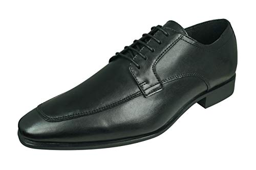 Geox U High Life A Herren Leder Arbeit Schuhe Büro Brogue-Black-43