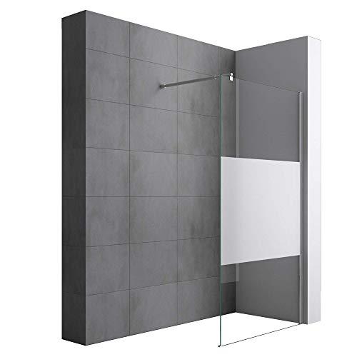 Paroi de douche à l'italienne 120cm avec bande opaque...