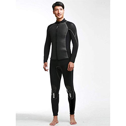 ZHANG Traje De Neopreno Traje De Baño Traje De Neopreno Superior para Hombre Chaquetas Pantalones Traje De Baño De Manga Larga De Neopreno De 2 5 Mm Surf,Large