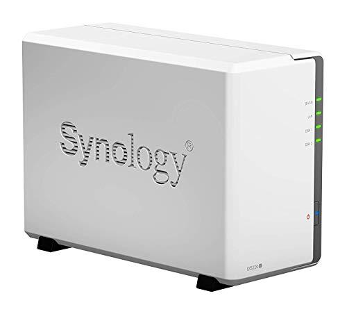 Synology DS220j DiskStation NAS-Server 2-Bay Desktop Server Bundle, Kapazität:12.000GB (12TB), HDD Typ:WD Red