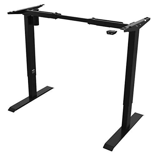 Dellonda Single Motor Ultra Quiet Adjustable Desk Frame, 70kg Load Capacity