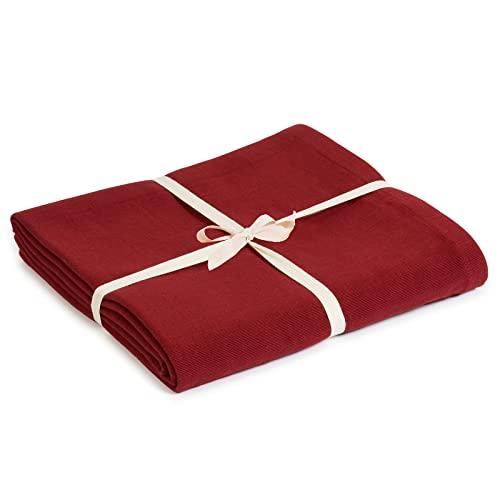 Yoga Studio Blanket/Burgundy/YS Manta de Yoga (algodón orgánico), Color Burdeos, Unisex,...