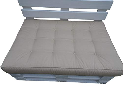 Sitzkissen 120 x 60 x 15 LUX für Standardpaletten und passt für die meisten Palettensätze Dieser Art. Hergestellt aus hochwertigem Polyester/Imprägniermittel (Cappucino)