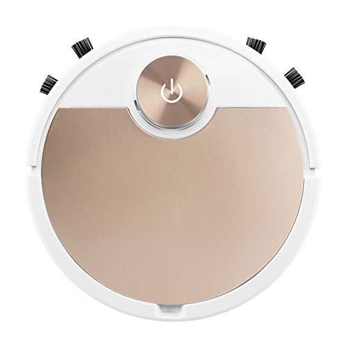 Fenteer Roboter Vakuum, Bluetooth Konnektivität, 3000PA Robotic Staubsauger, Smart Sensor Schutz, Beste für Pet Haare, Harte Boden & Medium Teppich - Champaign Gold