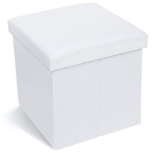 ODT Banc de Rangement Pliable en Similicuir Lilas Charge maximale 300 kg 38 x 38 x 38 cm
