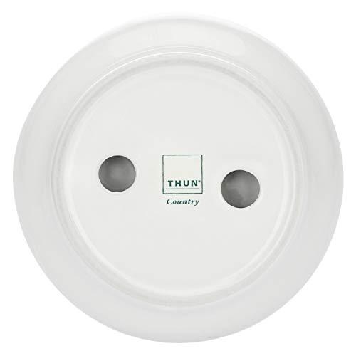 THUN - Porta Saponetta Tondo, Decorato con Girasole - Accessori Bagno - Linea Country - Stoneware - ø 12 cm, 3 h cm