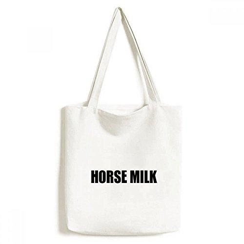 DIYthinker Mannen Paard Melk Fruit Naam Voedsel Milieuvriendelijk Tote Canvas Bag Winkelen Handtas Craft Wasbaar 33 cm x 40 cm (13 inch x 16 inch) Multi kleuren