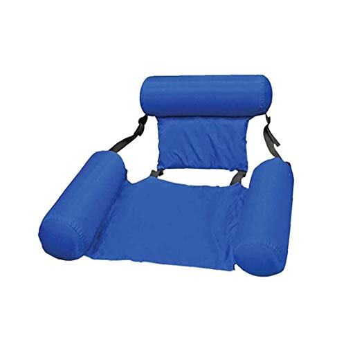 Newin Star Inflatable Lounger, Pool Lounger Float Water Hammock Inflatable Rafts Swimming Pool Air Sofa Floating Chair for Swimming Pool, Beach Blue