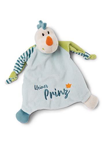 NICI 46734 Dragón pequeño príncipe 25 x 25 cm a Partir de 0 Meses – Manta de Seguridad para bebés y niños pequeños – Peluche / Manta de Seguridad para niños y niñas – Azul / Verde