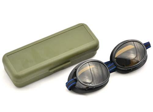 A. Blöchel Originale Gletscherbrille der Schweizer Armee Sportbrille Schutzbrille Sonnenbrille Schwarz