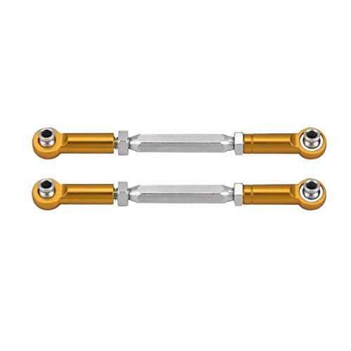 YNSHOU Accesorios de Juguete Varilla de articulación Superior Trasera Suspensión Superior Trasera Duradera (33606-OR Naranja) ( Color : 33606y Gold )