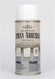 Stencil Ease Repositionable Stencil Spray Adhesive - 4.4 oz. can