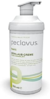 Peclavus Basic Weinlaub Creme, Fußcreme Fusspflegecreme gegen schwere Beine, 500 ml