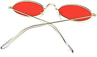 Vintage Oval Sunglasses Small Metal Frames