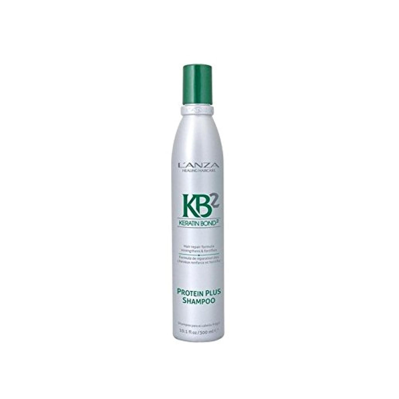 上下する伝統食器棚アンザ2タンパク質プラスシャンプー(300ミリリットル) x4 - L'Anza Kb2 Protein Plus Shampoo (300ml) (Pack of 4) [並行輸入品]