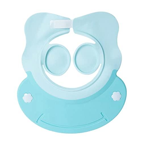 Hanone 1pcs Bebé Infantil Impermeable TPE Ducha Champú Cap Lavar el Cabello Niños Sombreros de baño Azul