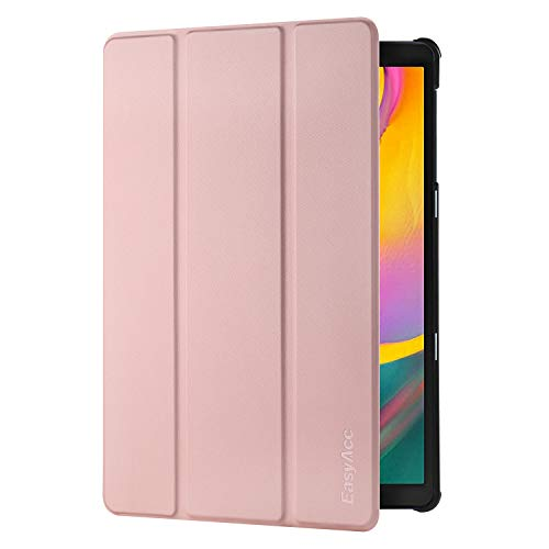 EasyAcc Hülle Kompatibel mit Samsung Galaxy Tab A 10.1 2019 - Ultra Dünn mit Standfunktion Slim PU Leder Smart Schutzhülle Kompatibel mit Samsung Galaxy Tab A T510/ T515 10.1 Zoll 2019, Roségold