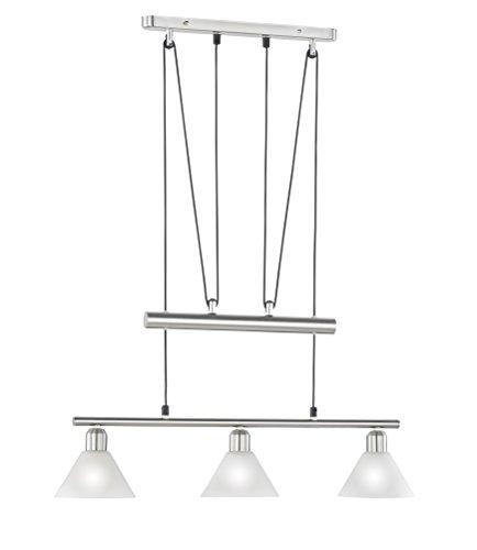 Trio-Leuchten 3751031-07 Jojo-Balkenpendel, 3xE14,max.40W, Nickel matt, Glas opal matt weiß [Energieklasse A++]