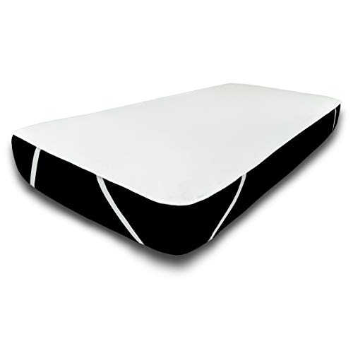 UNIFICATO Protector de colchón impermeable de algodón de rizo, resistente al agua, (Oeko-Tex ® Standard 100) (180 x 210 cm)