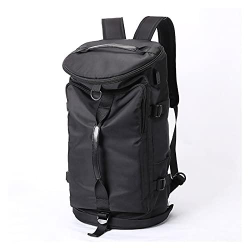HJUIK Mochila para portátil con bolsillo para zapatos, multifunción, para hombres, mujeres, deportes al aire libre, bolsa de viaje impermeable (color negro, tamaño: 28 x 28 x 50 cm)