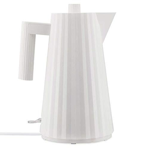 Alessi Plissè MDL06 W/UK - Bouilloire Électrique Design en Résine Thermoplastique, Prise Anglaise, 170 cl, Blanc