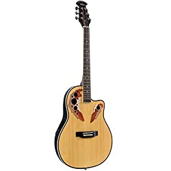Best Acoustic Electric Guitar under 200 US Dollars - ADM Full Size Acoustic Electric Cutaway Guitar