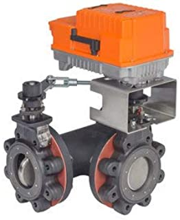 8 On//Off 24-240V F6200LU+PRXUP-3-T-200 Butterfly Valve w//Non-Spring 3136 Cv 2 Way