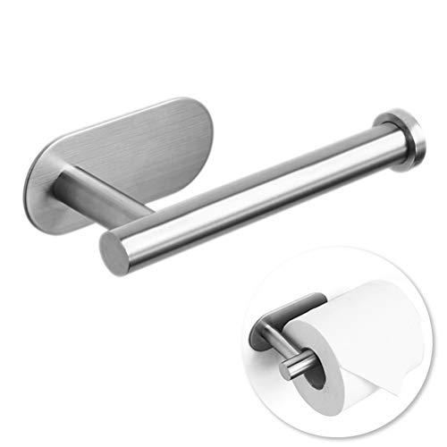Toilettenpapierhalter ohne Bohren, Klorollenhalter Papierhalter Papierhalter Selbstklebend Klopapierhalter Edelstahl für Küche und Badzimmer