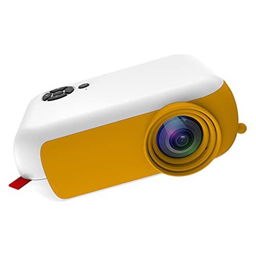 balikha Mini proiettore Portatile 1080P Home Theater Cinema HDMI USB SD AV Videoproiettore Video Film Dimensioni: 135x97x50mm, Piccolo e Portatile, Giallo