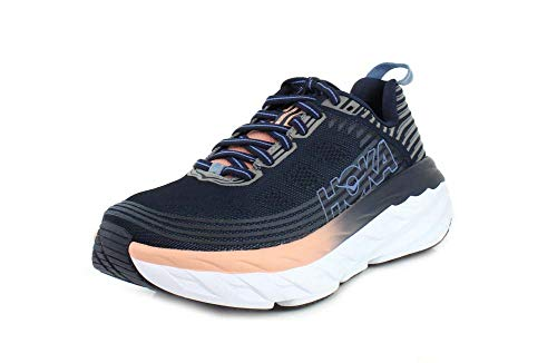 HOKA ONE ONE Womens Bondi 6 Mood Indigo/Dusty Pink Running Shoe - 8.5