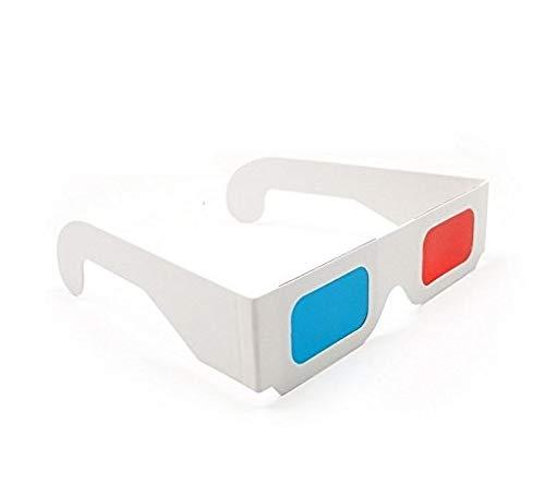 DARLINGTON & Sohns - Gafas 3D 3D de cartón (Paquete Grande), Color Rojo, Azul y Cian