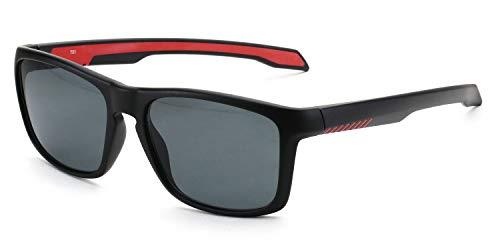 Viereckige Sonnenbrille für Damen & Herren, leichter Kunststoffrahmen, inkl. Vorteilscode für Gläser in Sehstärke (Gleitsicht/Einstärke) - Modell 20210P-401