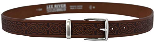 Lee River Goods Co - Men's Brown Celtic Leather Belt Owens - L (36-38in or 91-97cm) 501194