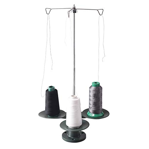 HONEYSEW 3-Spool Thread Stand for All Industrial and Domestic Sewing Machine Overlock Cone Stand