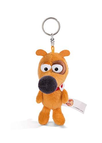 NICI 44230 Schlüsselanhänger Hund Pat 10cm, braun