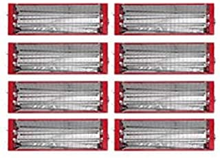 Mophorn Paint Booth Heater 3000W Infrared Curing lamp 8sets Paint Booth Lights