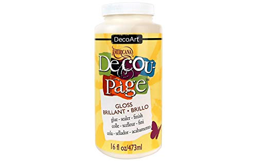 Deco Art - Pegamento para decoupage Americana, 473 ml, Acabado Brillante