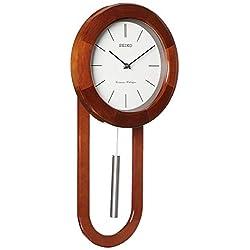 Seiko Circular & Sleek Wall Clock with Pendulum and Dual Chimes