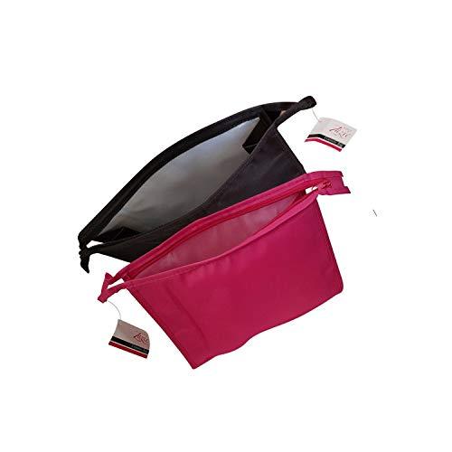 Zazie dames grote cosmetische tas in zwart of roze Zwart