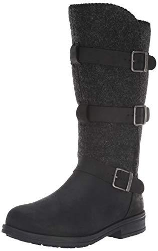 WOOLRICH Damen Frontier Wrap modischer Stiefel, schwarz, 36.5 EU