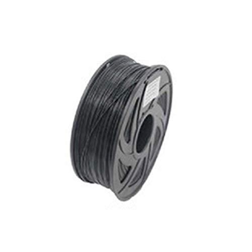 WZCXYX Filamento De Impresora 3D Consumibles De Impresión 3D Filamento De Material PLA1.75 Precisión Dimensional De 1 KG +/- 0.02mm Filamento De Impresora Múltiples Colores(Color:Negro)