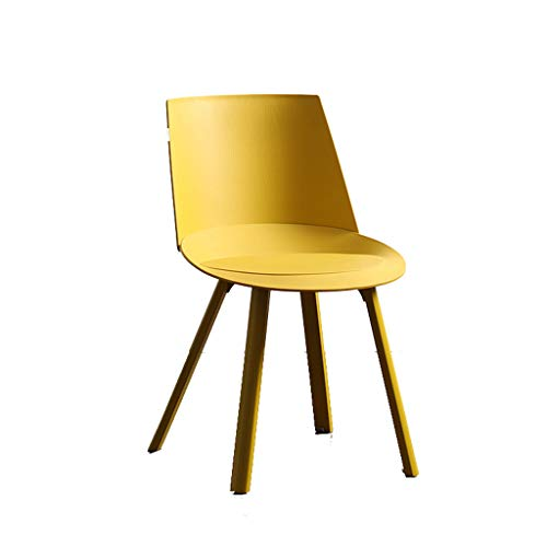 TXXM Sedia di plastica for Il Tempo Libero della Sedia di Studio della Sedia di Studio della Sedia da Pranzo Minimalista della Sedia di plastica dello Sgabello (Color : Yellow)