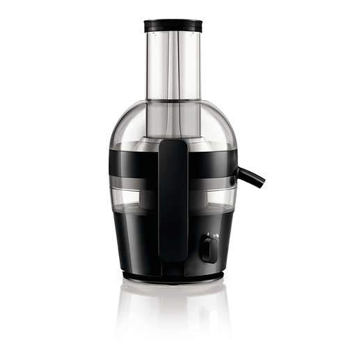 Philips Viva Collection HR1857/70 - Exprimidor (Licuadora centrífuga, Negro, 1,2 L, 2 L, 7,5 cm, 1 m)