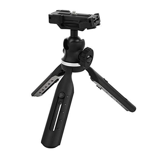 BOTEGRA Trípode de Mesa, aleación de Aluminio Resistente al Desgaste Resistente teléfono con cámara portátil Soporta Mini trípode Ligero con 5 Modos de Altura para teléfono móvil para cámara SLR