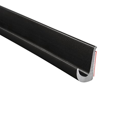 """Trim-Lok Drip Rail, Black – 1/2"""" Height, 25' Length – PVC Plastic Rain Gutter for Cars, Vans, and RVs, Easy to Install Flexible Drip Rail Molding to Control Water Runoff, Durable 3M Tape Included"""