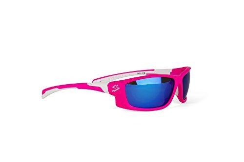 Spiuk Spicy - Gafas de Ciclismo Unisex, Color Rosa Mate/Blanco